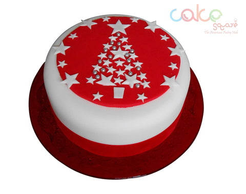DCC122 Red white - Designer Christmas Cakes