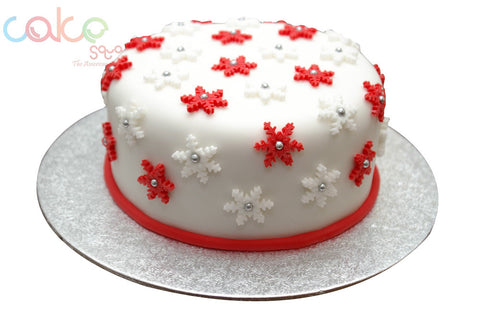 DCC120 Red and white Christmas cake
