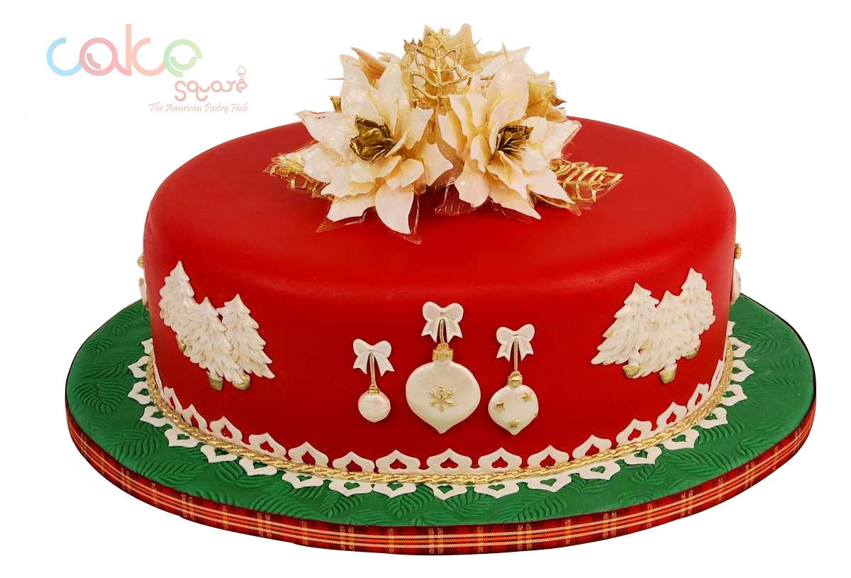 Incredible Dcc123 Rich Elegant Designer Christmas Cakes Cake Square Chennai Personalised Birthday Cards Veneteletsinfo