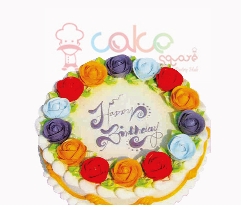 SD042 - Flower Ring Cake