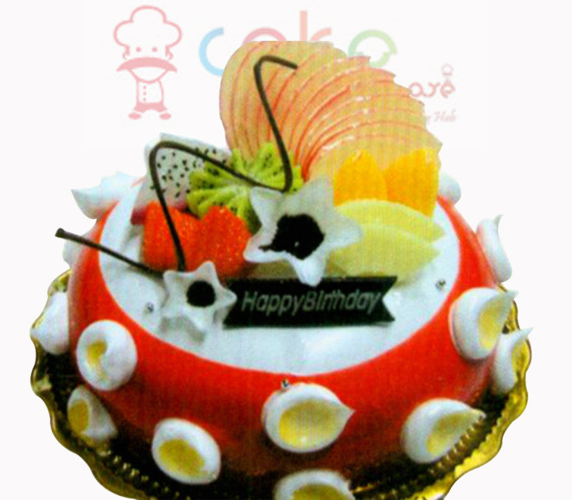 SD156 - Butterscotch and Strawberry Cake