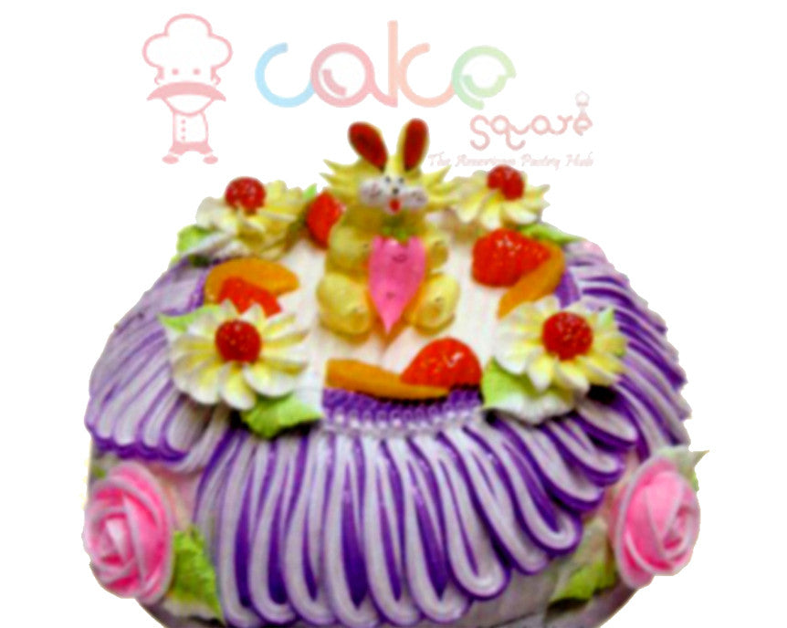 SD235 - Frills and Flowers Cake