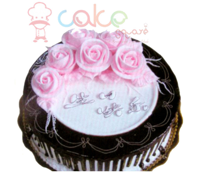 SD265 - Chocolate Flowers Cake