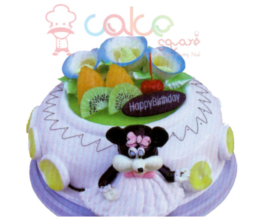 SD422 - Mickey Love Birthday Cake