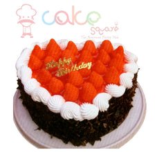SD560 - Berry Heart Birthday Cake
