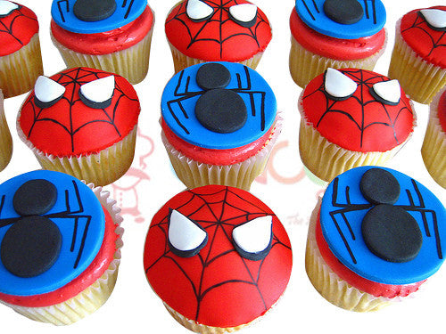 CP081- Spiderman Cupcakes