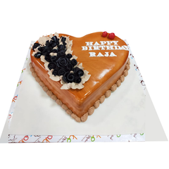 VC 028 Butterscotch Heart Cake