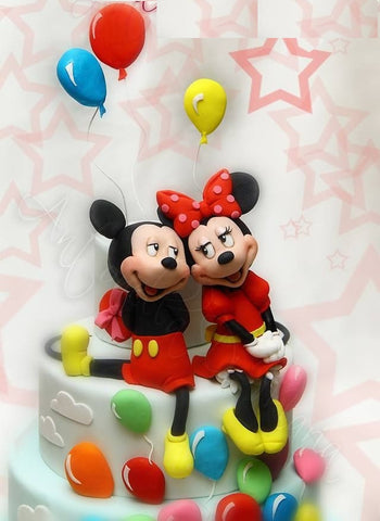 PH009 - Mickie Minnie Love Photo Cake