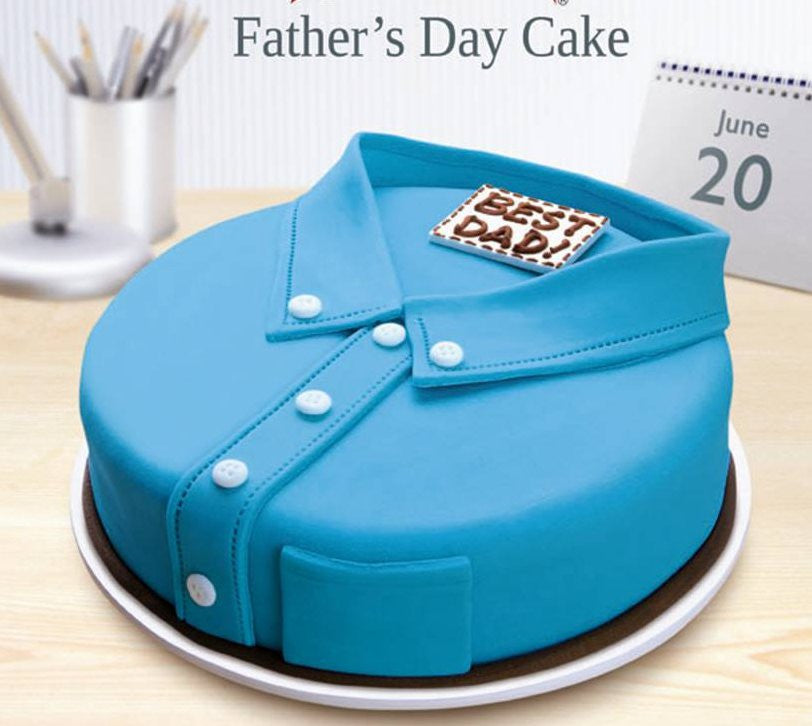 Papas Blue Shirt Cake Square Chennai