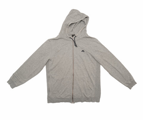 Nike SB Icon Zip Hooded Sweatshirt – Grey Heather
