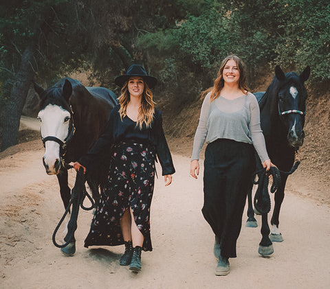 Tista, Juno, Charlotte and Salem walk through Griffith Park