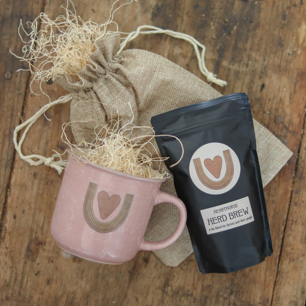 Horse Lover Gift set heart horse mug with herd brew gift wrapped for holidays