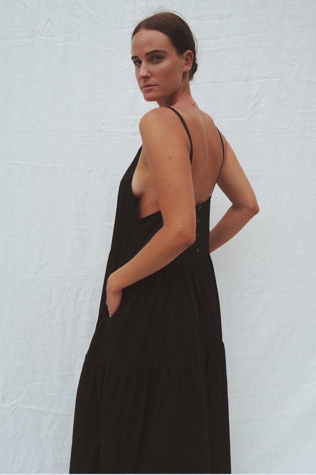 Austen tiered maxi dress - Black