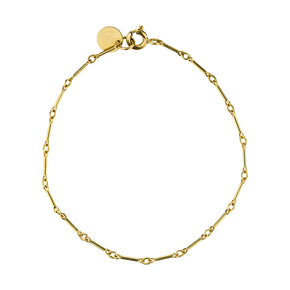 The Arizona Bracelet - 14k gold-filled, thin chain bracelet with gold-filled tag, by Elvis et moi
