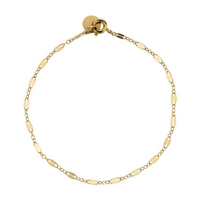 The Lola Bracelet - 14k gold-filled chain and link charms, by Elvis et moi
