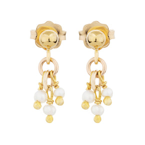 The Petit Pearl Earrings - 14k gold-filled drop earrings with freshwater pearls by Elvis et moi