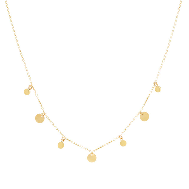 The Goldie  Necklace - 14k gold-filled and oxidised sterling silver chains, by Elvis et moi