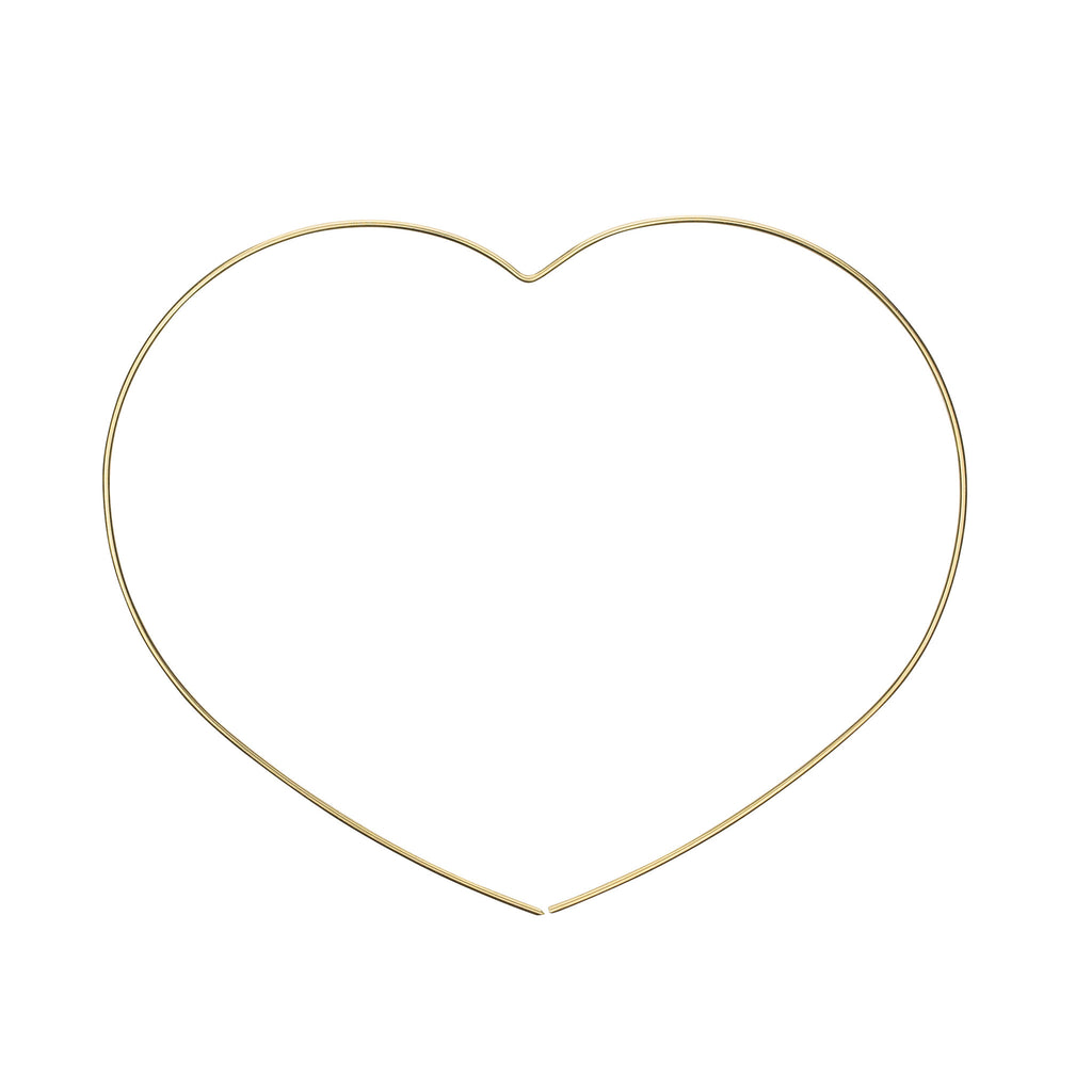 The My Heart Earring - 14k gold-filled, thread-through hoop earring in a heart shape by Elvis et moi.
