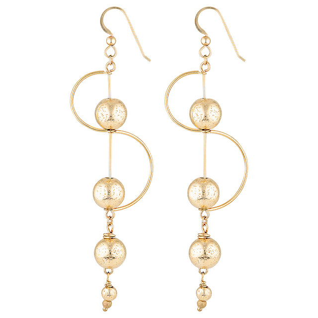 The Cosmos Earrings - gold-filled dangle earrings with gold-filled globe charms by Elvis et moi