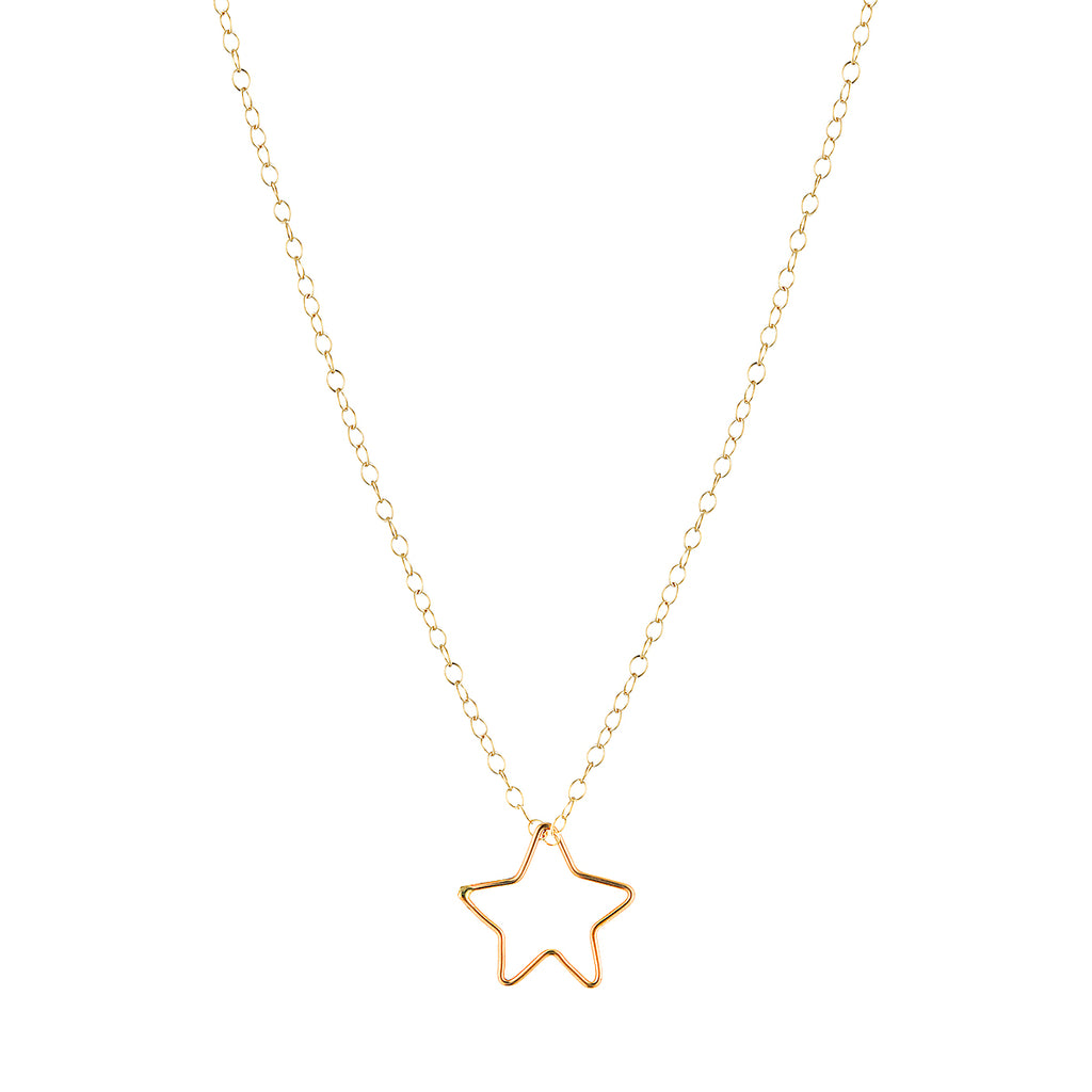 The Ezekiel Necklace - 14k gold-filled chain with gold-filled star shaped pendant, by Elvis et moi