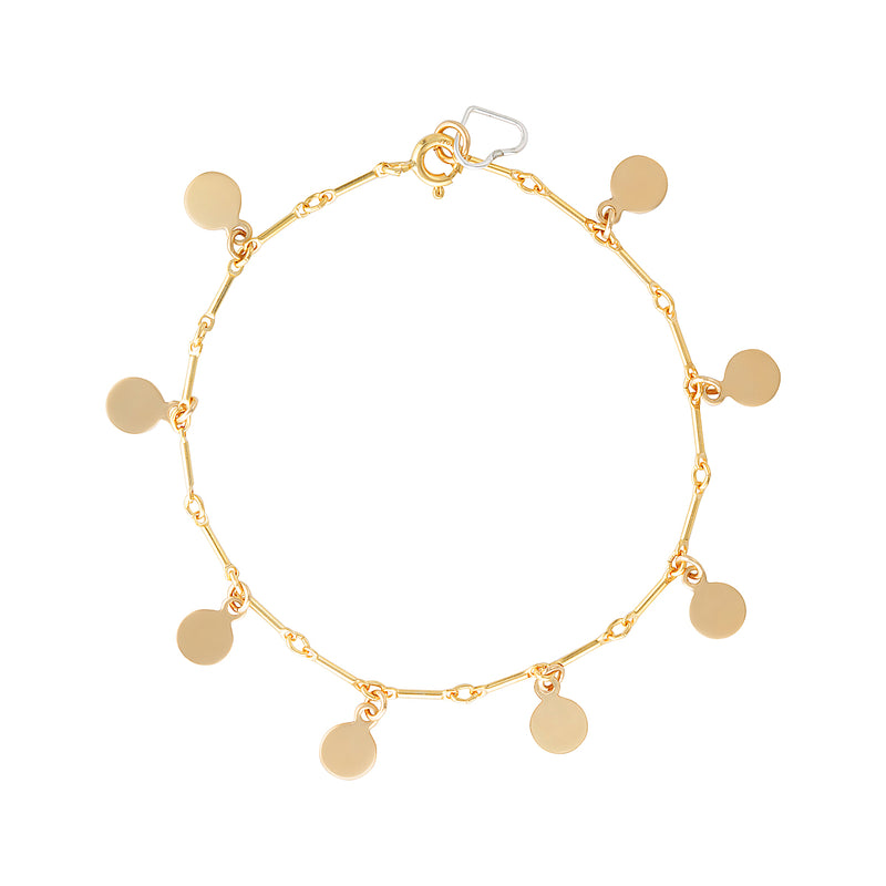 The Presley Bracelet - 14k gold-filled chain bracelet with multiple gold-filled charms, by Elvis et moi