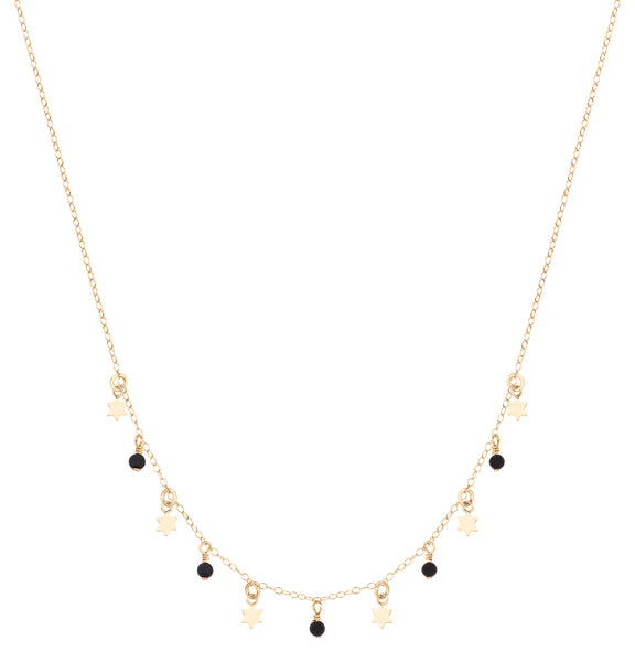 black stars necklace