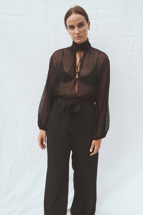 The Taylor silk blouse - Black
