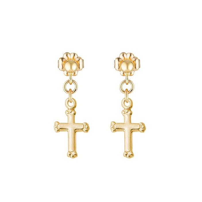 The mini faith cross earrings