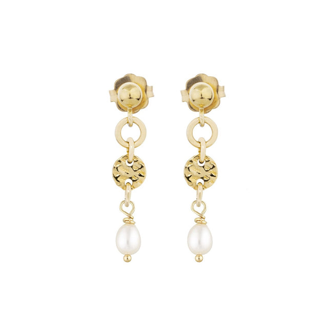 The Mini rayon pearl earrings