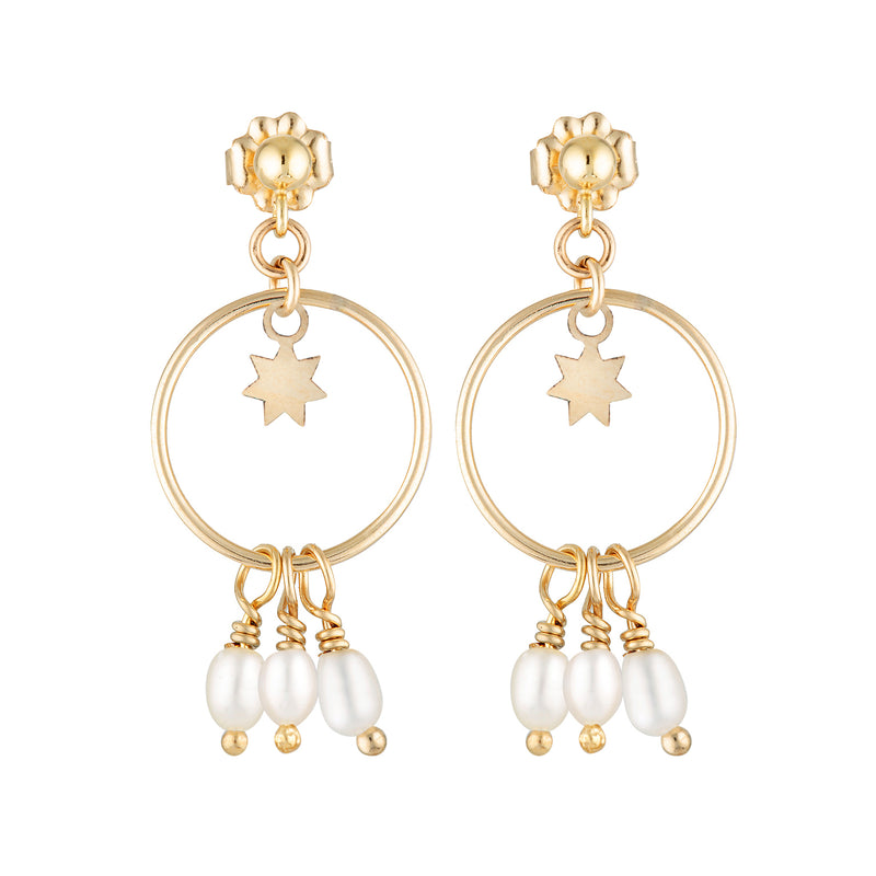 The Leo Star earrings