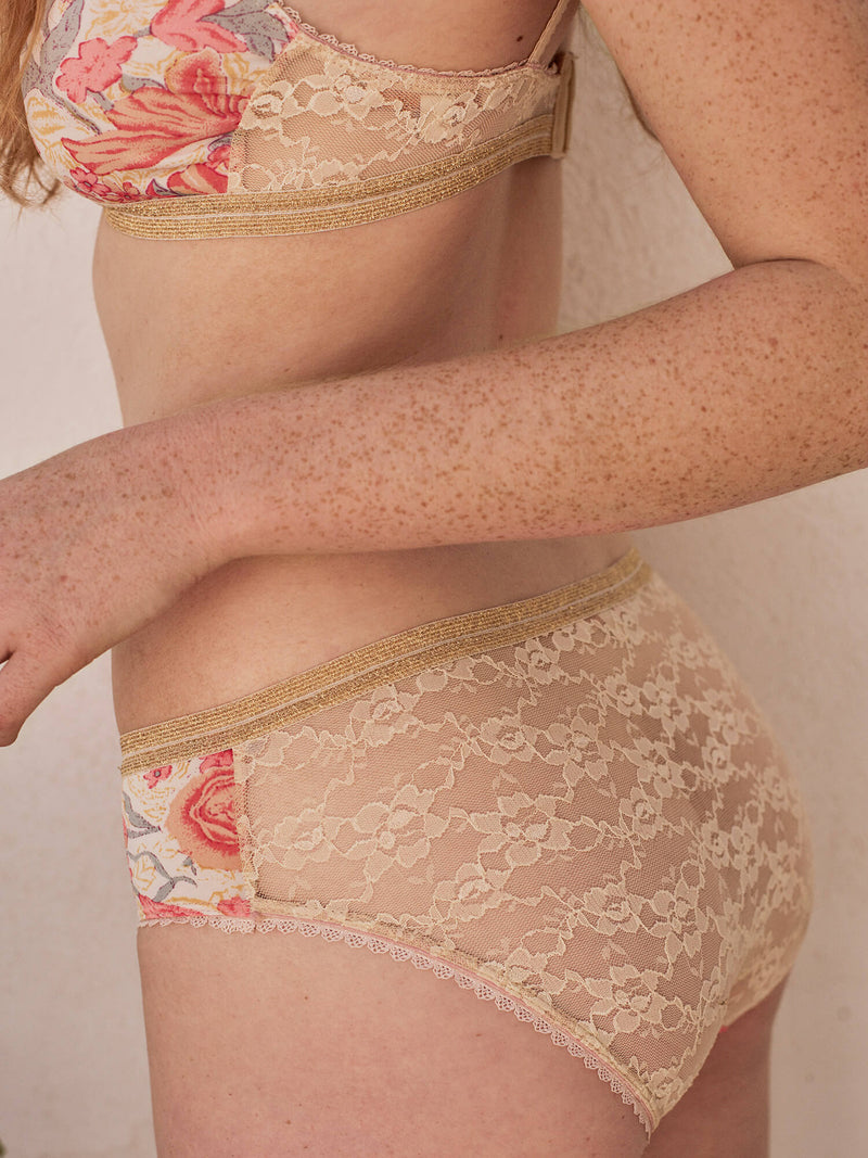 The Prisha Pink Flowers Panties, Lingerie by Louise Misha - Elvis et moi