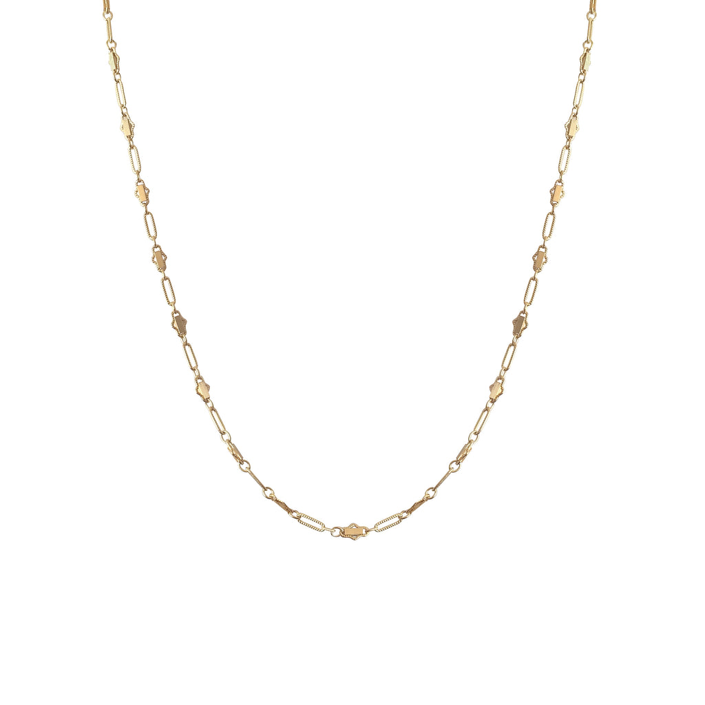 The Zaza Necklace - 14k gold-filled chain choker, by Elvis et moi