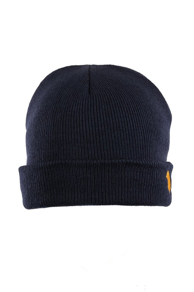 Yuki Bird Beanie Steel Blue