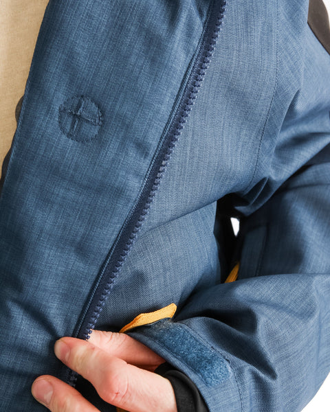 Bel Air Jacket Navy/Charcoal/Golden Glow - Yuki Threads