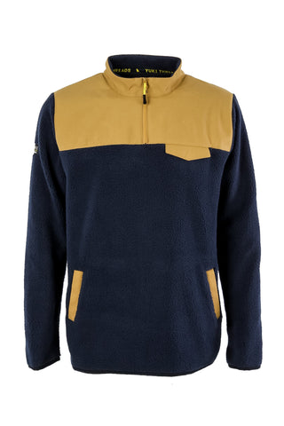 Sherpa Fleece Tan / Navy - Yuki Threads