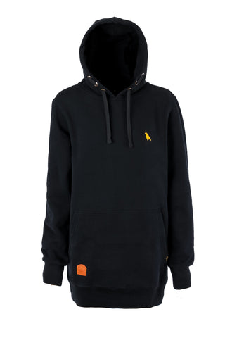 Slim Fit Old Mate Hoodie Black - Yuki Threads