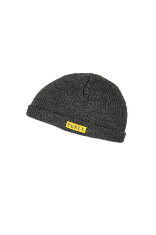 Fishermans Beanie Charcoal Melange - Yuki Threads