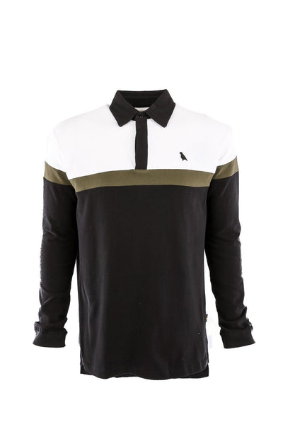 Rugby Shirt White/Olive/Black