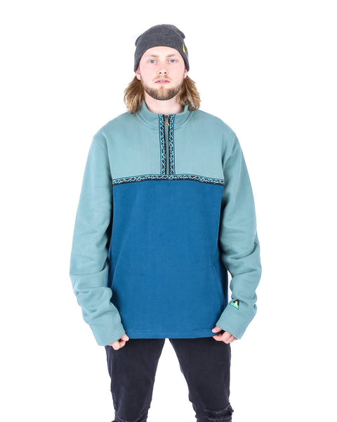 Village Pullover Sea Bush Green - Yuki Threads