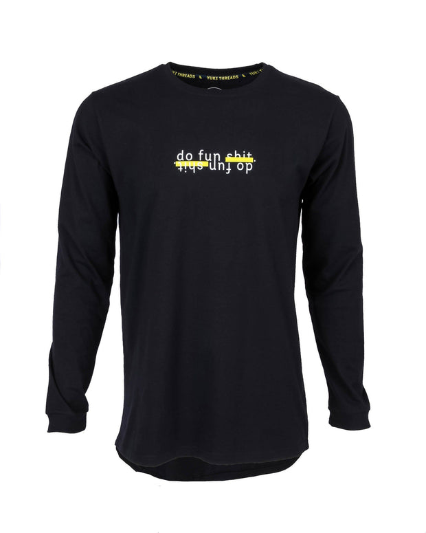 Do Fun Shit LS Tee Black