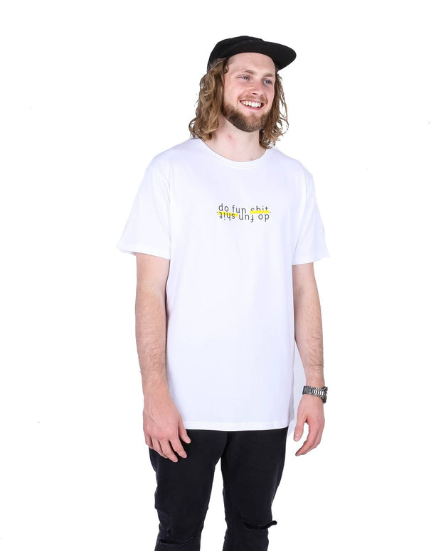 Do Fun Shit SS Tee White - Yuki Threads