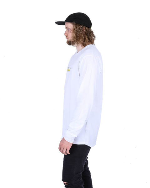 Do Fun Shit LS Tee White - Yuki Threads