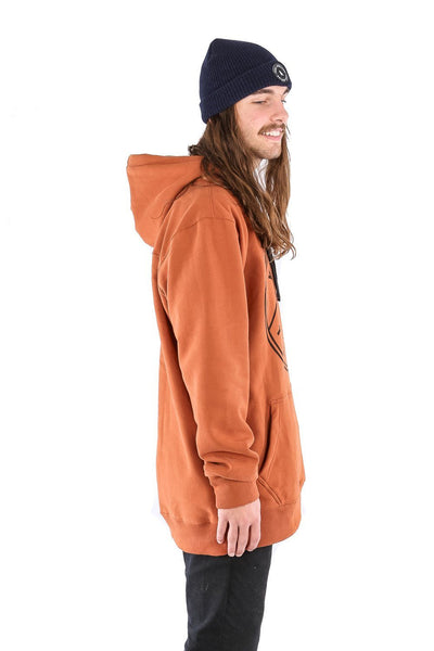 Stamp Hoodie Burnt Orange