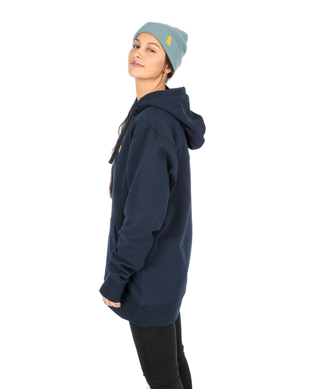 Reg Fit Old Mate Hoodie Navy - Yuki Threads