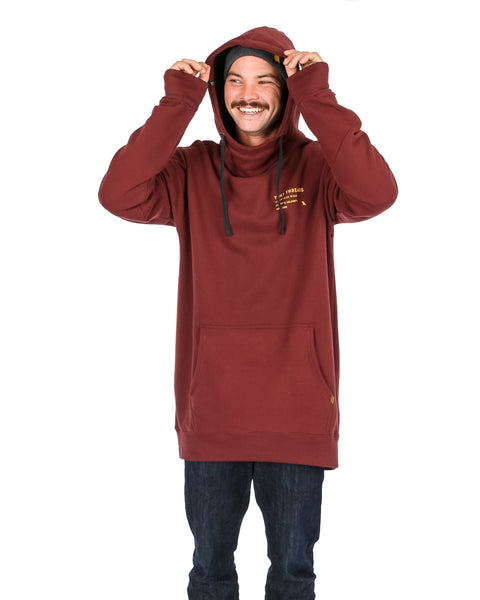 Loop Shred Hoodie Maroon - Yuki Threads