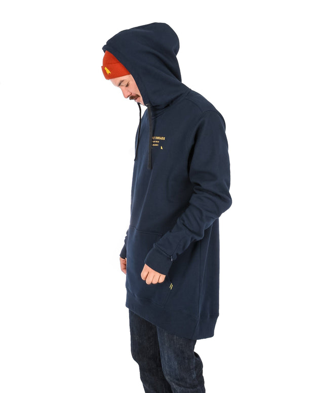 Loop Shred Hoodie Navy - Yuki Threads