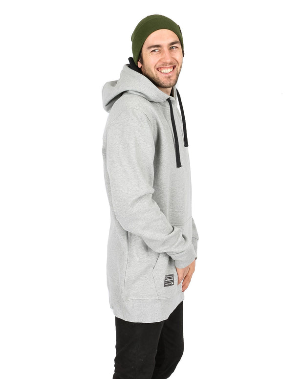Reg Fit Old Mate Hoodie Heather Grey - Yuki Threads