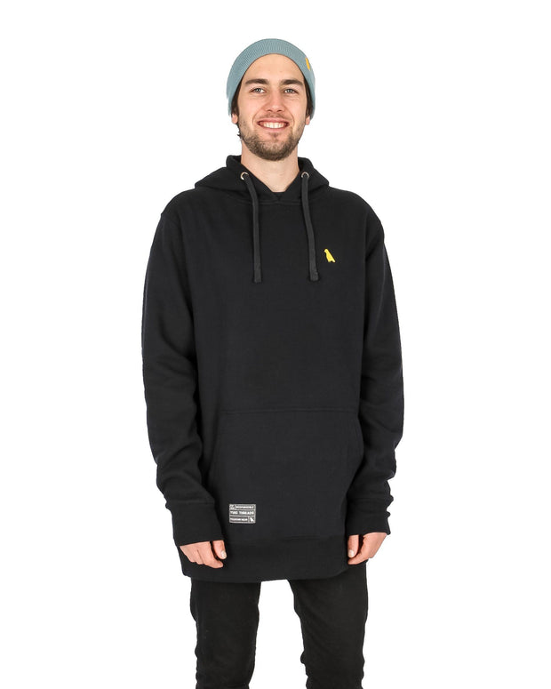 Reg Fit Old Mate Hoodie Black - Yuki Threads