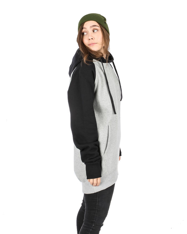 Retro Hoodie Heather Grey / Black - Yuki Threads