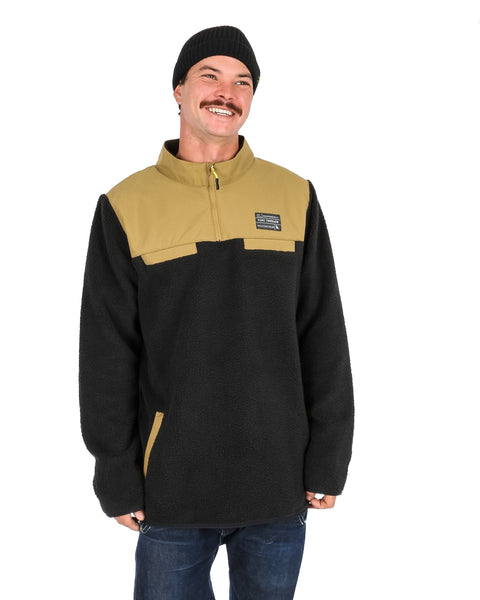 Sherpa Fleece Black / Tan - Yuki Threads